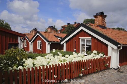 Old houses Vastervik Smaland Sweden