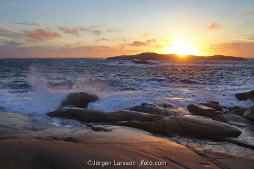 Bohuslän Hav Vågor klippor