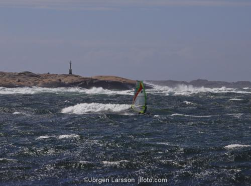Bohuslän Sweden Waves cliffs windy coast windsurfing