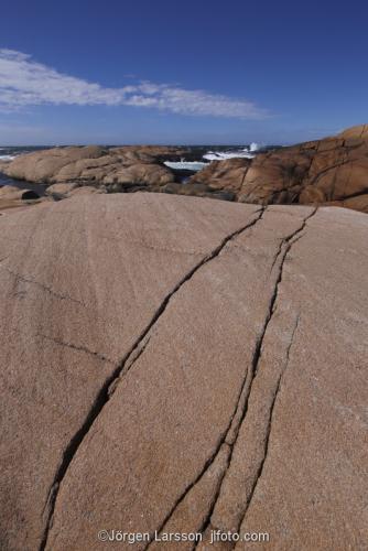 Fykan Ramsvikslandet Granit klippor Bohuslän Hav Vatten Kust skärgård Sverige