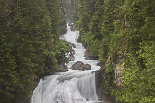 Waterfall Dolomiterna Italien