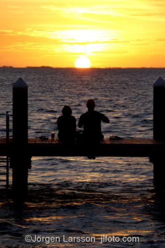 Copuple, Sunset Marathon Florida USA   solnedgång  par människor