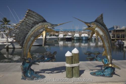 Isla Morada Florida Keys USA    Skulptur  Hamn,  Svärdfisk