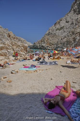 Seitan beach Crete Greece sunbath relax vacation