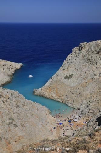 Seitan beach Kreta Grekland semester bad