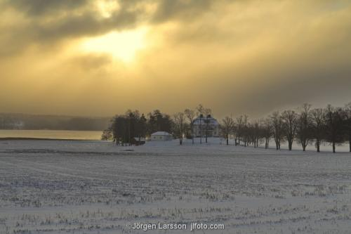 Vinter Södermanland Grödinge fält husSverige