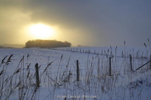 Mörkö vinter Södermanland Sverige