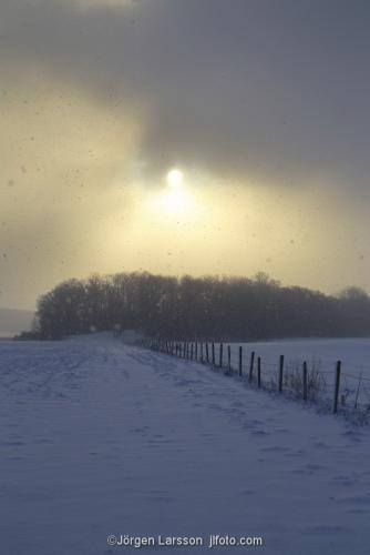 Vinter Mörkö stämning Södermanland Sverige