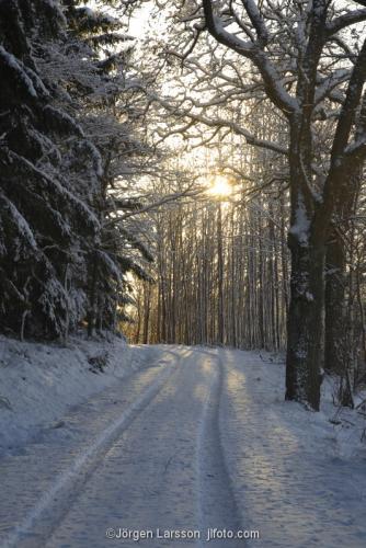 Mörkö Väg vinter Södermanland Sverige