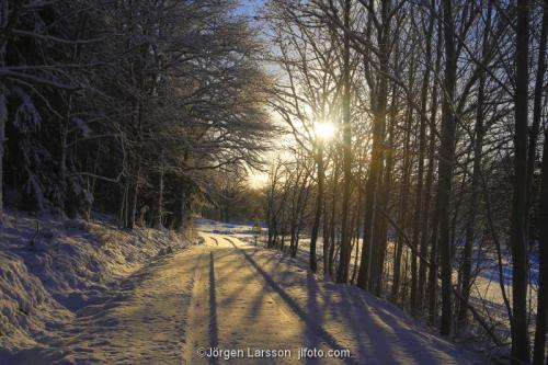 Mörkö Vinterväg vinter Södermanland Sverige