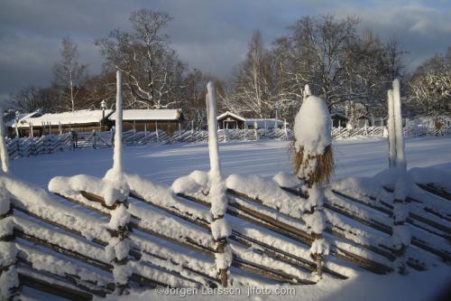 Museum Skansen Stockholm Sweden winter