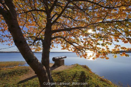 Skansundet Grödinge höst sol vatten träd kust kanon Sverige