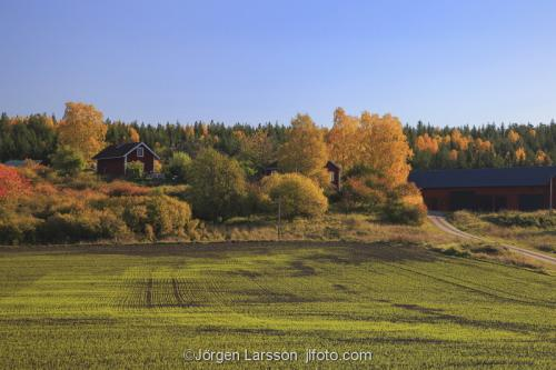 Mörkö Södermanland Sverige Höst gårdar fält åker hus