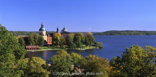 Gripsholms slott Mariefred Södermanland Sverige Mälaren panorama