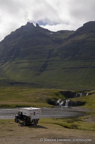Camping vid Hellisandur Island