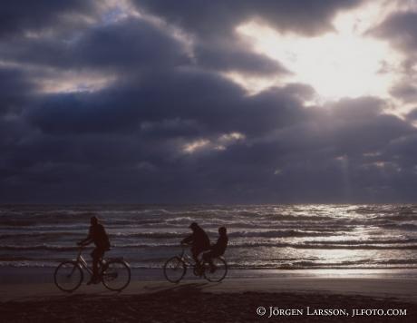 Cyklister på Mellbystarnd Halland