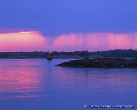 Rainclouds Tjust Smaland Sweden