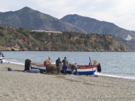 Fiskare  Nerja Andalusien Spanien
