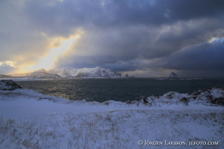 Wintercoast in dramatic light