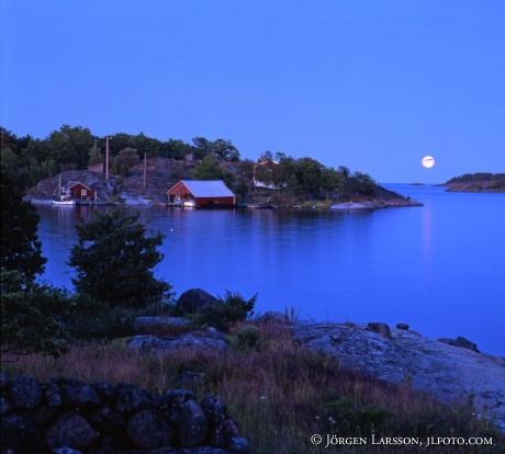 Månsken över Nävelsö Småland