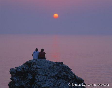 Solnedgång Fårö Gotland