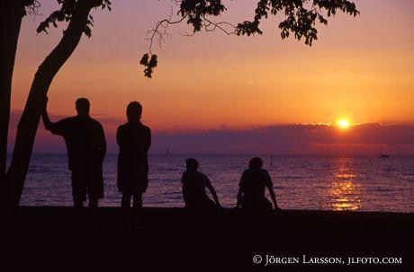 Solnedgång Visby Gotland