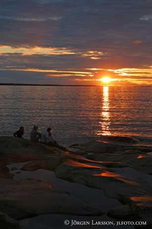 Solnedgång Människor Öregrund