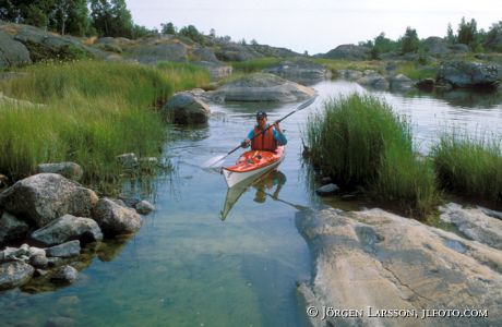 Canoeing Stora Nassa Sodermanland Sweden