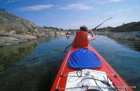 Canoeing Stora Nassa Södermanland Sweden