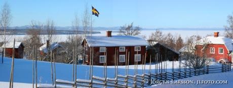 Dalarna Sweden Tellberg Digital panorama