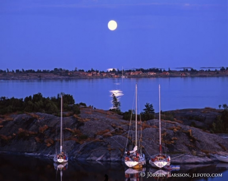 Moonlight Saiboats Vaderskar Smaland Swe