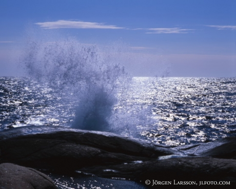 Waves at Smogen Bohuslan Sweden