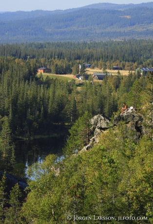 Man resting  Storlien Jamtland Sweden