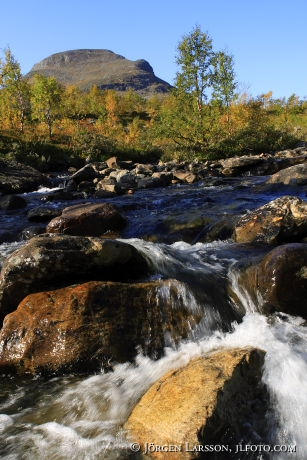 Waterfall Snasahögarna Jamtland Sweden