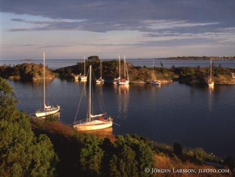 Sailboats Jungfrusund Smaland Sweden