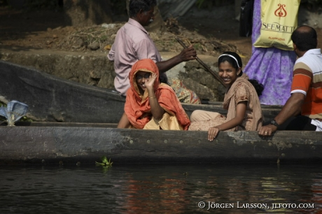 Indien Kerala  Backwater