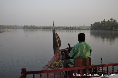 Indien Kerala  Backwater