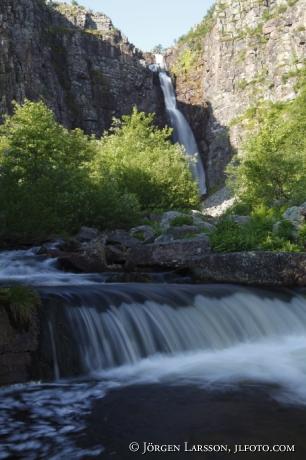 Njupefallet Fulufjällets nationalpark Dalarna