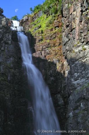 Njupefallets vattenfal Fulufjällets nationalpark Dalarna