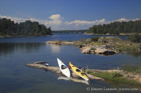 Kanoter Tjusts skärgård Småland Sverige