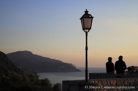 Solnedgång Banyalbufar Mallorca Spanien