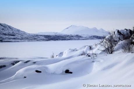 Akkajaure Stora Sjöfallets nat park Lappland Sweden