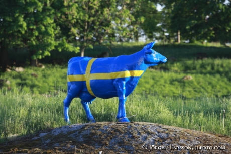 Cow sculpture Sweden