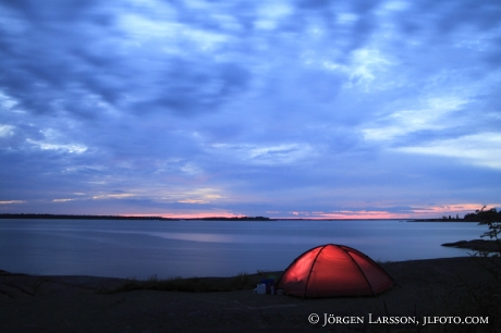 Camping in Smaland Sweden