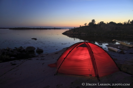 Canoes tent  Smaland Sweden