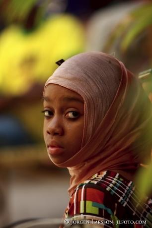 Flicka Zansibar Tanzania