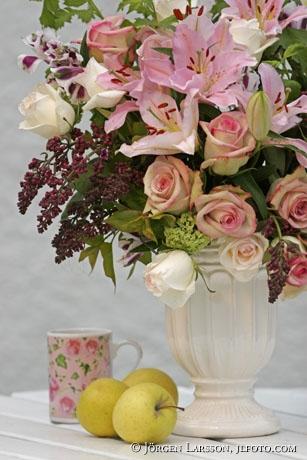Blandade blommor