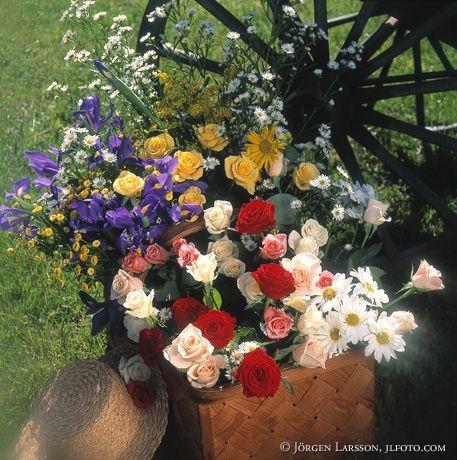 Blommor vid vagn