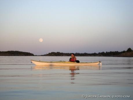 canoeing  Smaland Sweden