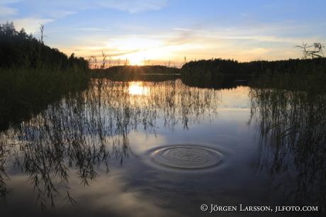 Solnedgång vid Fläten Södermanland Sverige